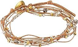 Chan Luu - Gold Mix/Beige Double Wrap Bracelet