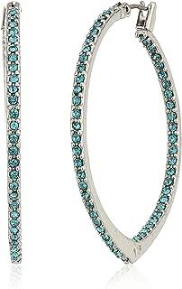 Womens Sparkling Small Hoop Earrings