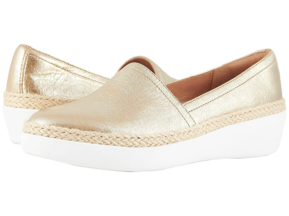 44112690d12 FitFlop Casa Loafers (Metallic Gold) Women s Slip on Shoes