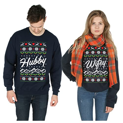 Matching Ugly Christmas Sweaters for Couples Amazon.co.uk