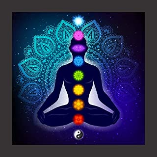 Print Art - Framed Painting of Seven Chakras Meditation for Home, Office Wall Decor in Home Decorative Gift Item Digital R...