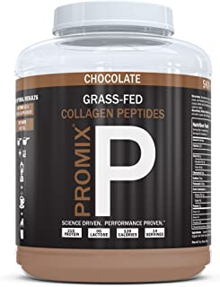 Collagen Peptides Powder 100% Grass-fed Hydrolysate Type I III Hydrolyzed Highest Potency Available. Keto Zero Low Carb Paleo. PROMIX 1 Ingredient. Gluten Free USA GMP Certified. Non-GMO Chocolate 1LB