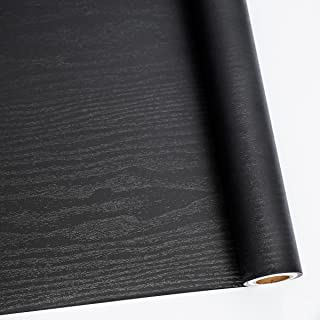 "24"" X 118"" Black Wood Self Adhesive Paper Decorative Self-Adhesive Film.."