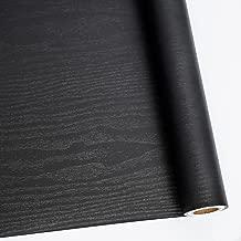 """24"""" X 118"""" Black Wood Self Adhesive Paper Decorative Self-Adhesive Film.."""