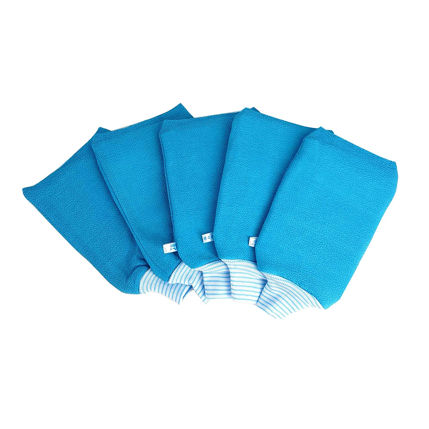 LISSOMPLUME Exfoliating Bath Gloves for Body 5 Scrub specialty shop quality assurance PACK Women