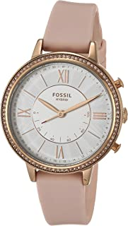 Women's Jacqueline Stainless Steel Hybrid Smartwatch, Color: Blush (Model: FTW5059)