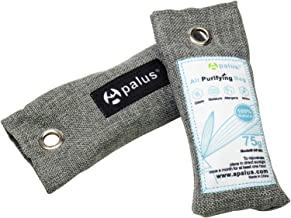 APALUS 75g*2 Mini Natural Air Purifying Bags, Shoe Deodorizer and Odor Eliminator, Bamboo Activated Charcoal Air Freshener, Airy Dry, Dehumidifer, Odor Absorber, Odor Neutralizer, 2 Pack