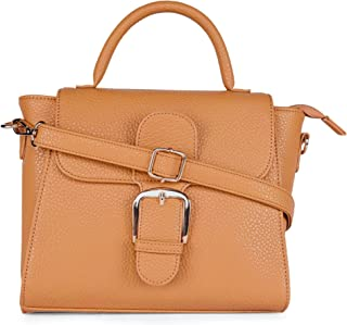 Lavie Amedeo Flap Satchel Women's Handbag (Ochre)