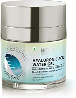 WOW Skin Science Hyaluronic Acid Water Gel for Hydration, Toning - with Hyaluronic Acid & Vitamins B5 & E - For All Skin Types - No Parabens, Silicones, Color, Mineral Oil & Synthetic Fragrance - 50mL