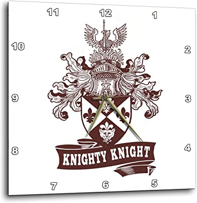 3dRose Russ Billington Designs - Knighty Knight- Funny Heraldic Design in Brown and White -