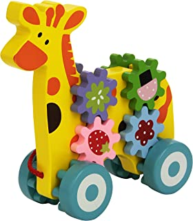 Andreu Toys 16361 プルアロン キリンのおもちゃ 19 x 7.5 x 19 cm