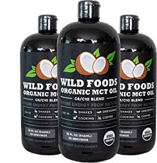 Organic MCT Oil from 100% Non-GMO Coconuts | Two 32oz BPA Free Bottles | Triple Filtered & Purity Tested | Premium C8/C10 ...