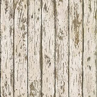 Chesapeake HTM13282 Grendel White Faux Weathered Wood Wallpaper