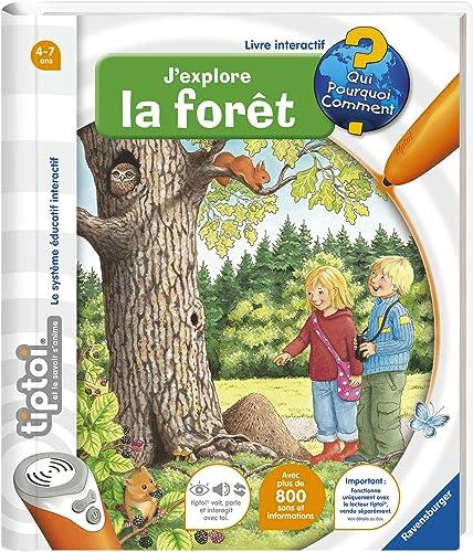 Ravensburger - Livre interactif tiptoi - J'explore la forêt - Jeux électroniques éducatifs sans écran en français - E...