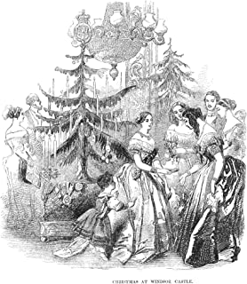 Christmas At Windsor NChristmas At Windsor Castle Queen Victoria Presenting Gifts To The Royal Household Wood Engraving English 1846 Poster Print by (24 x 36)