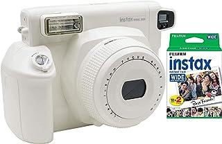 Fujifilm Instax - Cámara de Fotos instantánea Ancha de 300 Fotos, Color Blanco Instax Wide Instant Film (20 Disparos) (Fuj...