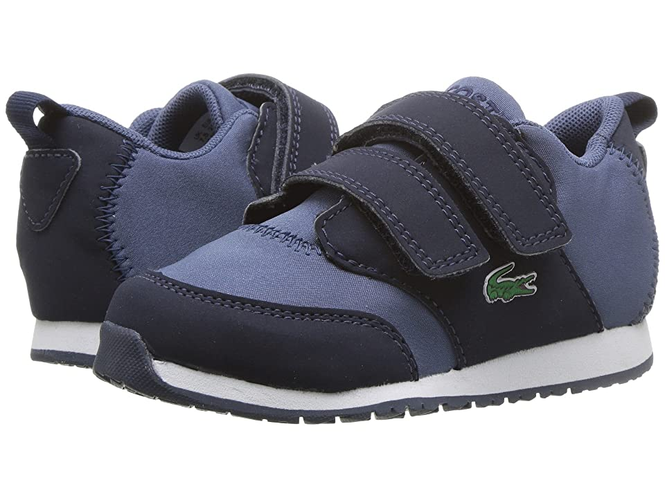 Lacoste Kids L.Ight 318 (Toddler/Little Kid) (Navy/Dark Blue) Kid