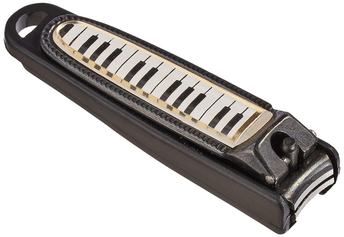 アフリカ人努力バクテリアナカノ 爪切り 鍵盤柄 ブラック NC-65/KB/BL