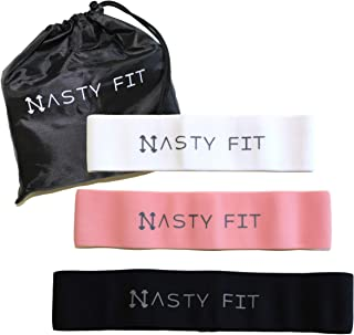 Resistance Bands, Perfect Exercise Bands for Training, Home Gym, Stretching, Weight Training, Physical Therapy, Includes 3 Workout Bands Levels, by Nasty Fit