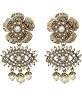 Marchesa - Large Flower Eye Drop Earrings