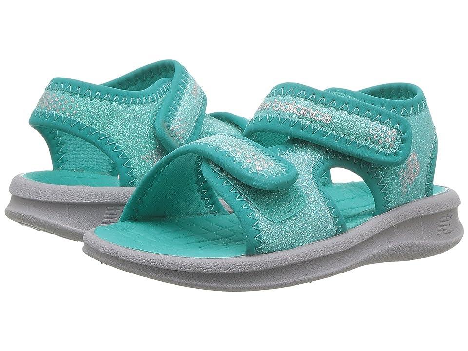 New Balance Kids Sport Sandal (Toddler/Little Kid/Big Kid) (Grey/Green) Girls Shoes