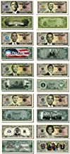 Barack Obama 44th President Collectors 10 Bill Collector Set: One Million Dollar Bill, 2008, 2009 Inaugural Note, 2010 Obama, 2011 Obama, 2012 Obama, 2013 Obama, 2014 Obama, 2015, Michelle Obama Note
