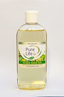 Grapeseed Oil, Natural and Pure, Cold Pressed Carrier Oil (