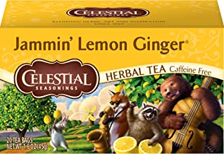 Celestial Seasonings Herbal Tea, Jammin' Lemon Ginger, 20Count Box
