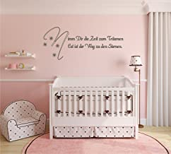Indigos UG Wandtattoo/muursticker, tijd om te dromen, stickers voor slaapkamer of kinderkamer