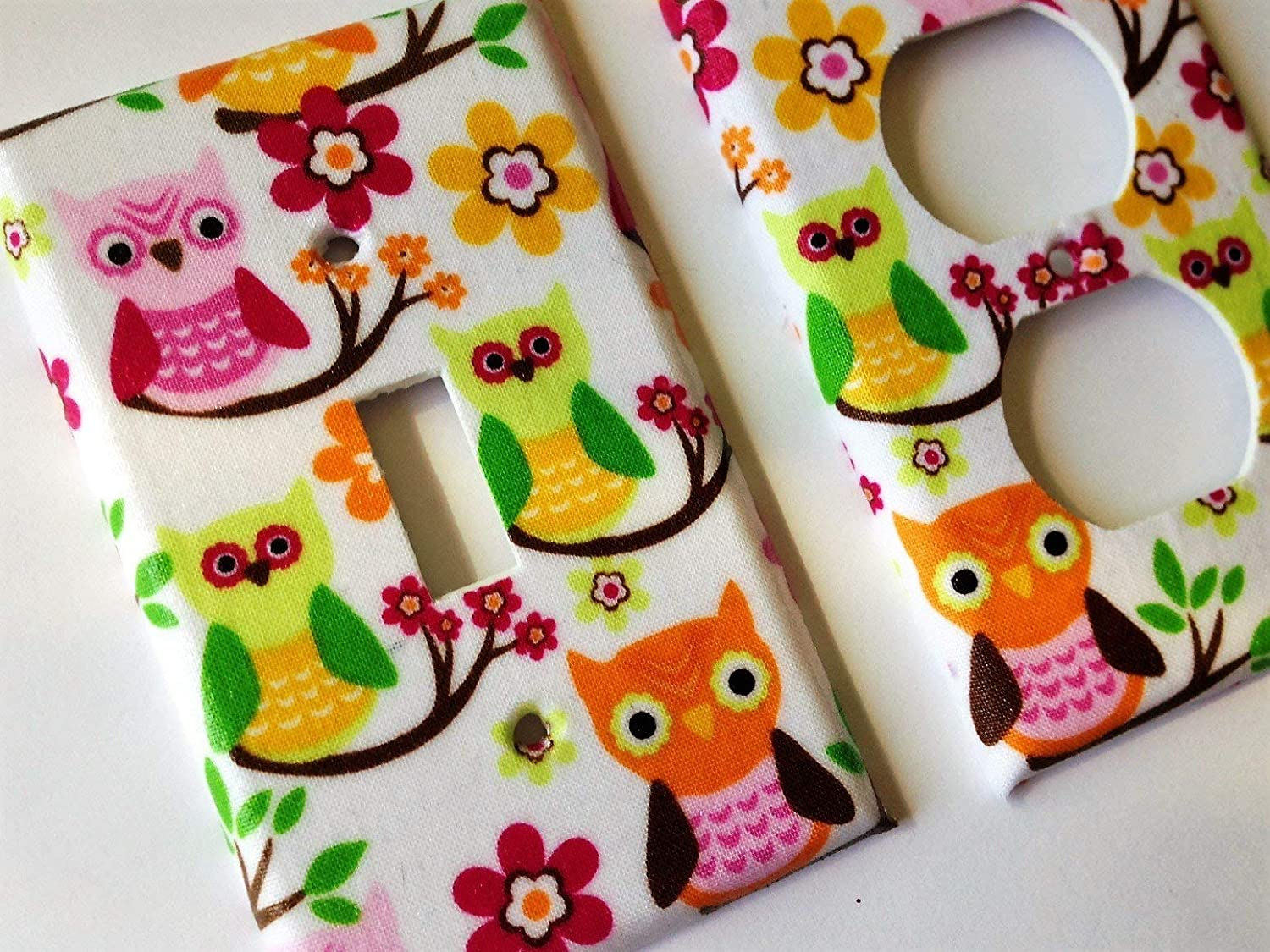 New York Mall Green Pink Orange Owl Light Switch Various Minneapolis Mall Sizes Offered Cover