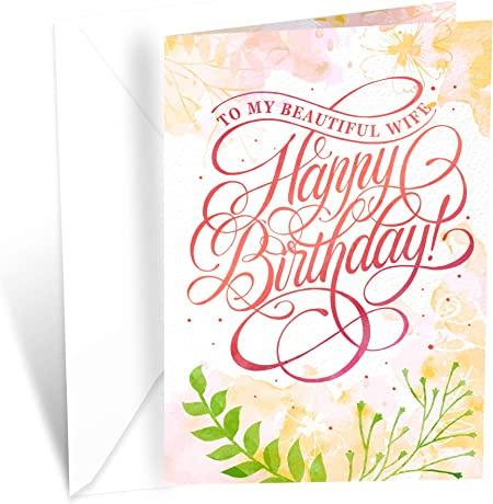 Romantic Wife Birthday Card   Happy Birthday Card For Wife From Husband   Prime Greetings