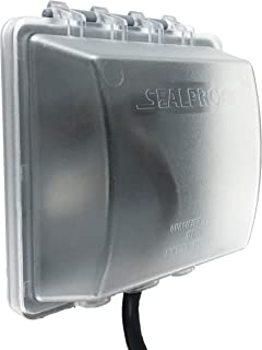 Sealproof 2-Gang Weatherproof In Use Outlet Cover   Two Gang Outdoor Plug and Receptacle Protector, Lockable, UL Extra Duty Compliant, 45 Configurations