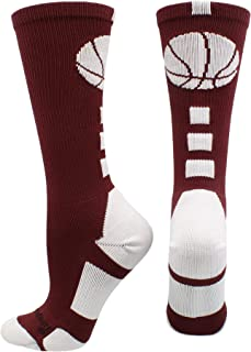 maroon basketball socks