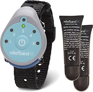 Reliefband Classic Motion Sickness Wristband w/ 1 Extra Gel Tube - Easy-to-Use, Fast, Drug-Free Nausea Relief Band Helps with Morning Sickness, Nausea, Sea Sickness, Retching, Vomiting