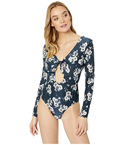 Seafolly Splendour Long Sleeve One Piece Surfsuit (Indigo) Women
