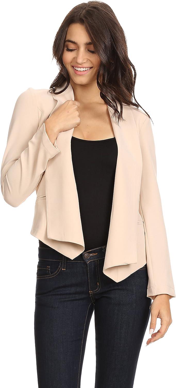 Alexander + David Womens Open Office Blazer Jacket  Fitted Woven Coat Welt Pocket