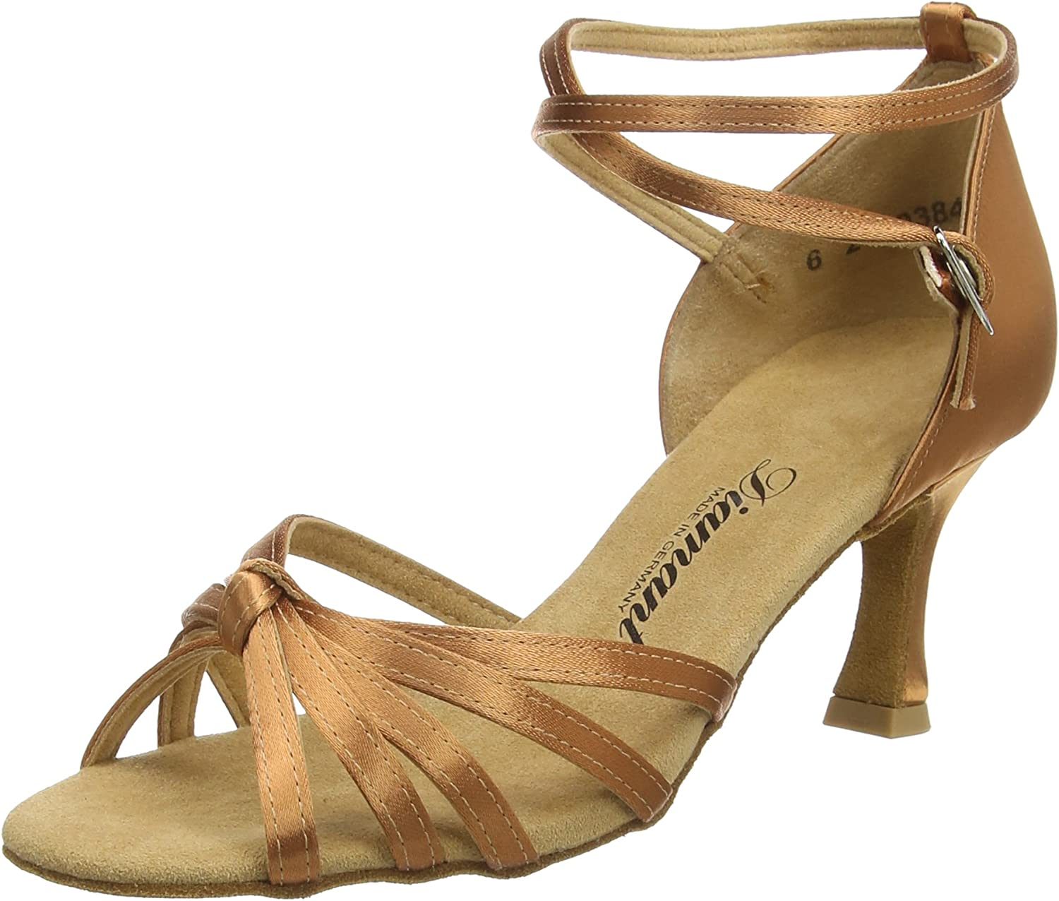 (6.5 UK, Brown (Dark Tan))  Diamant Women's Diamant Damen Latein Tanzschuhe Dance shoes