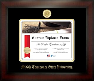 Celebration Frames Middle Tennessee State University 8½ x 11 Mahogany Finish Infinity Diploma Frame