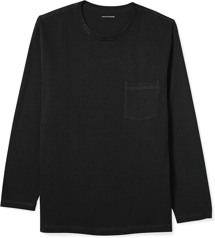 Amazon Essentials Men's Big & Tall Long-Sleeve Pocket T-Shirt fit by DXL
