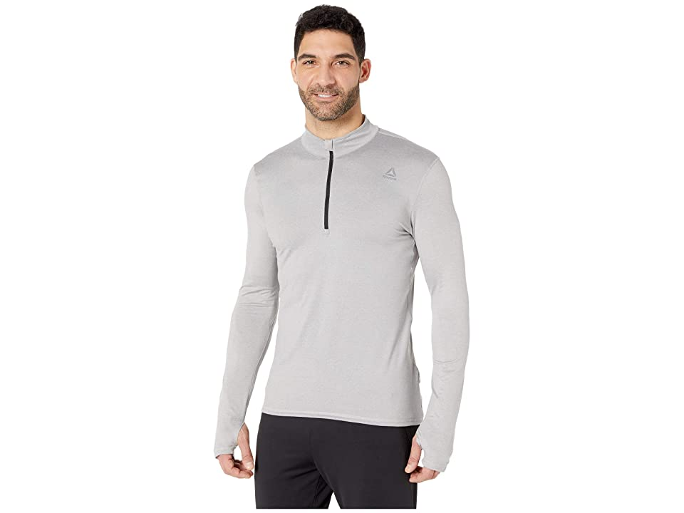 Reebok Quarter Zip (Medium Grey Heather/Solid Grey) Men