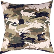 TangDepot174; Camouflage Throw Pillow Cover, Camo Pillow Cases - 100% Cotton Canvas, Handmade - Many Colors & Sizes Avaliable - (20x20, C05 Crocodile Camo)