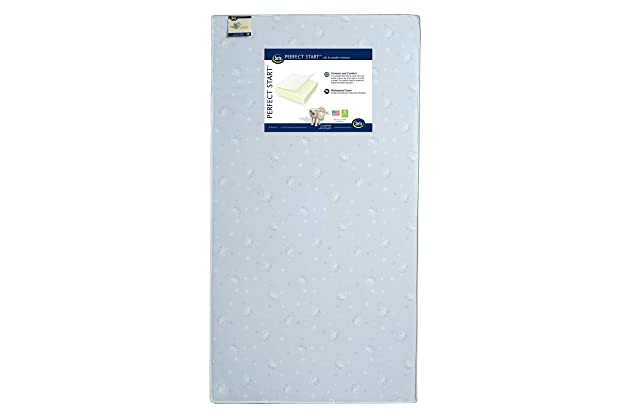 Serta Perfect Start Fiber Core Crib and Toddler Mattress | Waterproof | Lightweight | GREENGUARD Gold Certified (Natural/Non-Toxic)