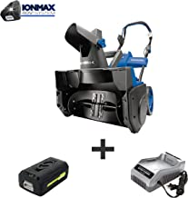Snow Joe iON18SB-PRO 40-Volt iONMAX Cordless Brushless Single Stage Snowblower Kit   18-Inch   W/ 5.0-Ah Battery and Charger