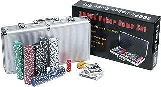 【ケーセブン】☆Kseven☆ ポーカー カジノ チップ 300枚 100枚 ダイス トランプ フルセット 遊び方 マニュアル 付き (チップ300枚)