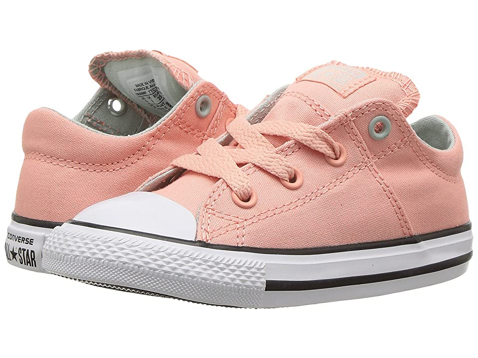 Converse Kids Chuck Taylor All Star Madison Ox (Infant/Toddler) (Pale Coral/Dried Bamboo/White) Girl