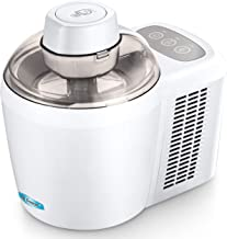 Maxi-Matic EIM-700 Freezing Self-Refrigerating Ice Cream Maker, Frozen Yogurt, Sorbet, Gelato Treat, 1.5 Pint, White