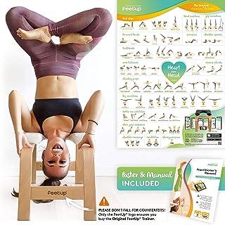 FeetUp® Yoga Kopfstandhocker – Original Kopfstand Trainer Stuhl aus Buchenholz mit Polster
