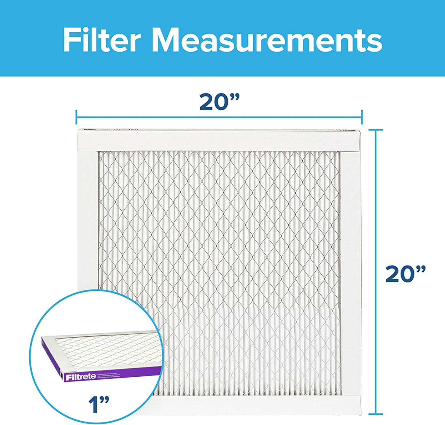 Filtrete 14x20x1 AC Furnace Air Filter MPR 1500 and Airthings ...