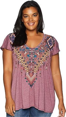 Plus Size Nala Deep Scoop T-Shirt