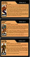 JoeCon 2018 GI Joe Convention Exclusive Legends File Cards Full Set of 3